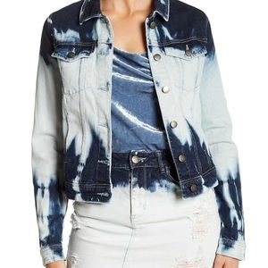 Afrm Bleached Blue  Denim Jacket